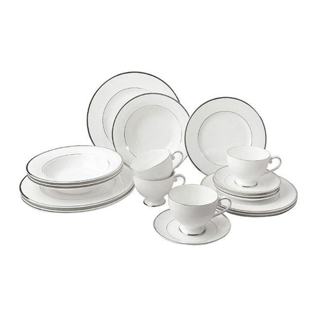 Saint James Premium Tableware Cameo Platinum Dinner Set 20pcs