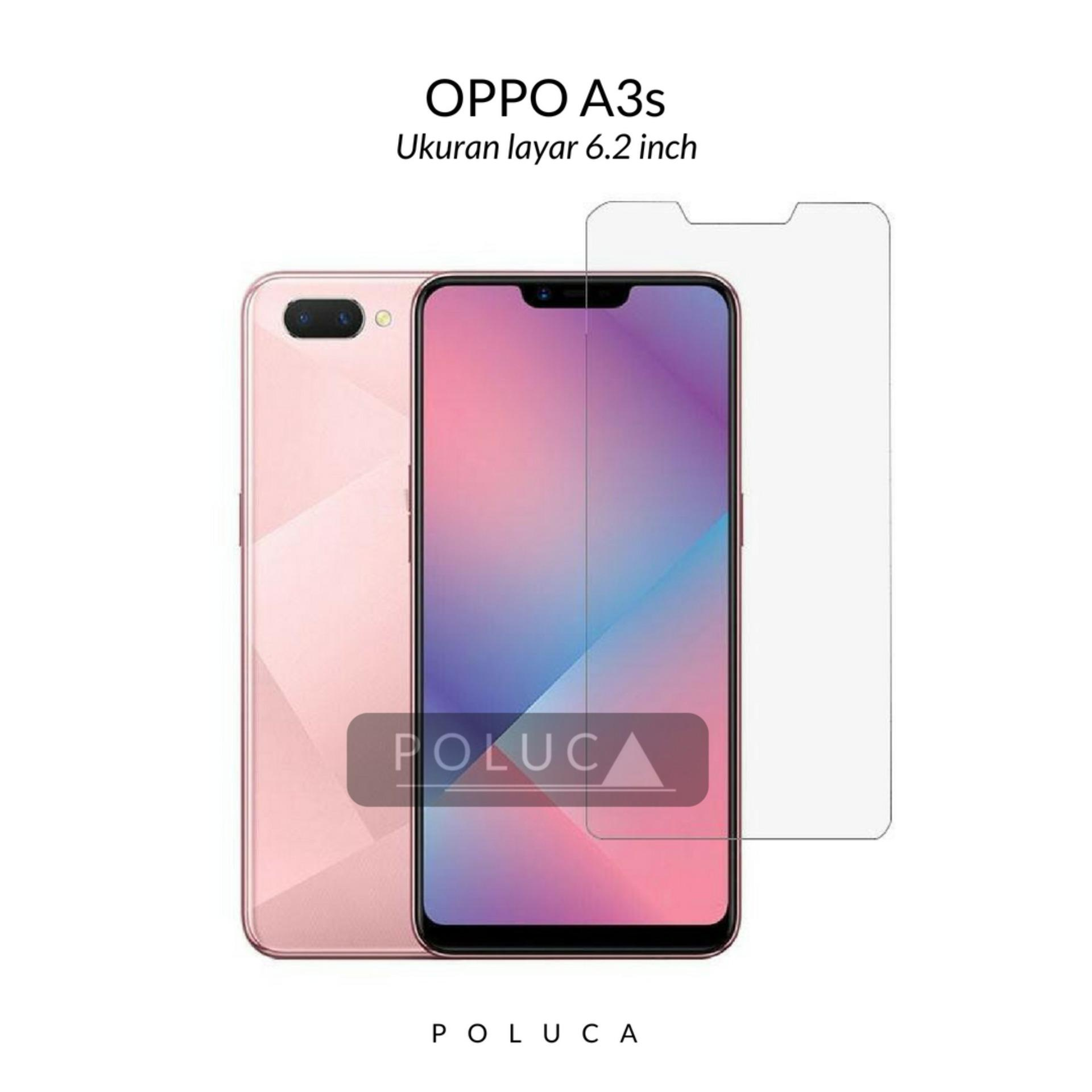 Poluca Tempered Glass Screen Protector Anti Gores Kaca Oppo A3s - Clear