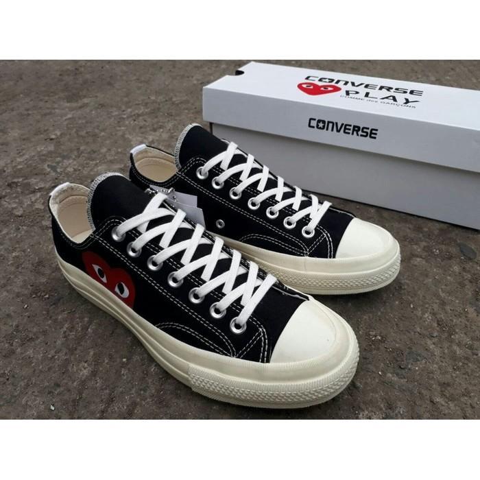 Sepatu Sneakers Converse 70S Low Play Cdg Comme Des Garcons PREMIUM
