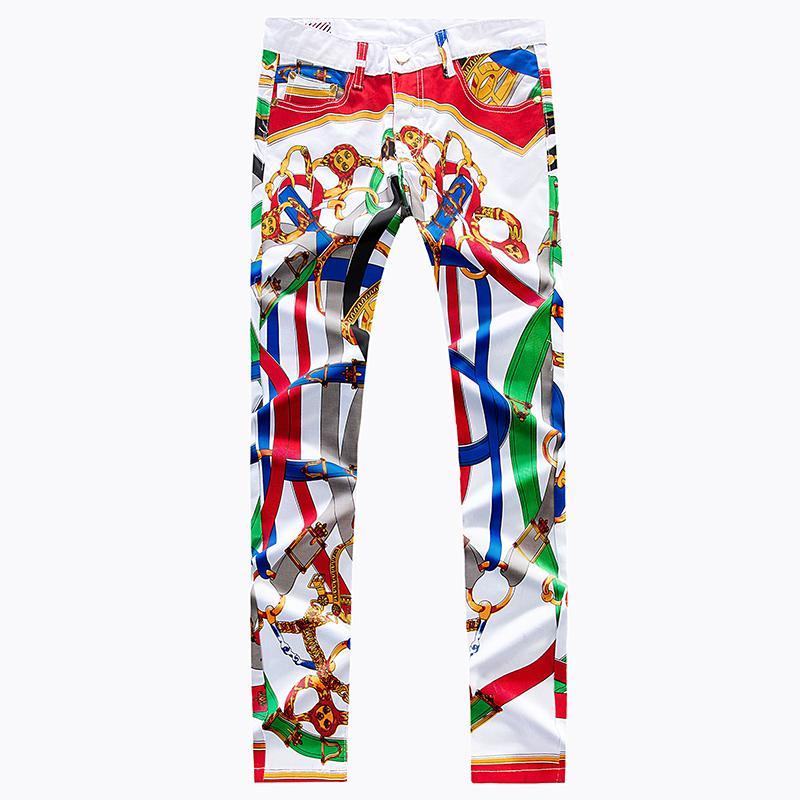 Tren Pria Warna Coretan Jeans (Warna)