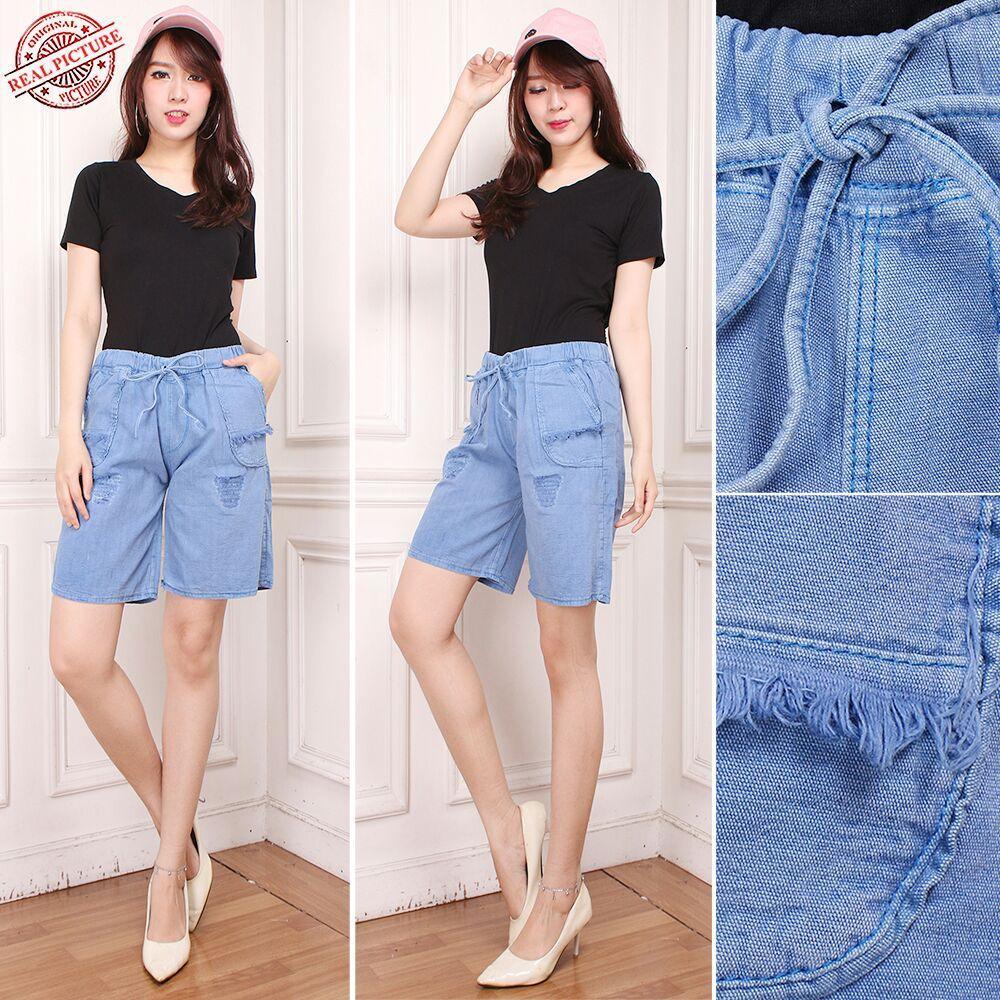 168 Collection Celana Pendek Licna Hotpant Jeans Wanita