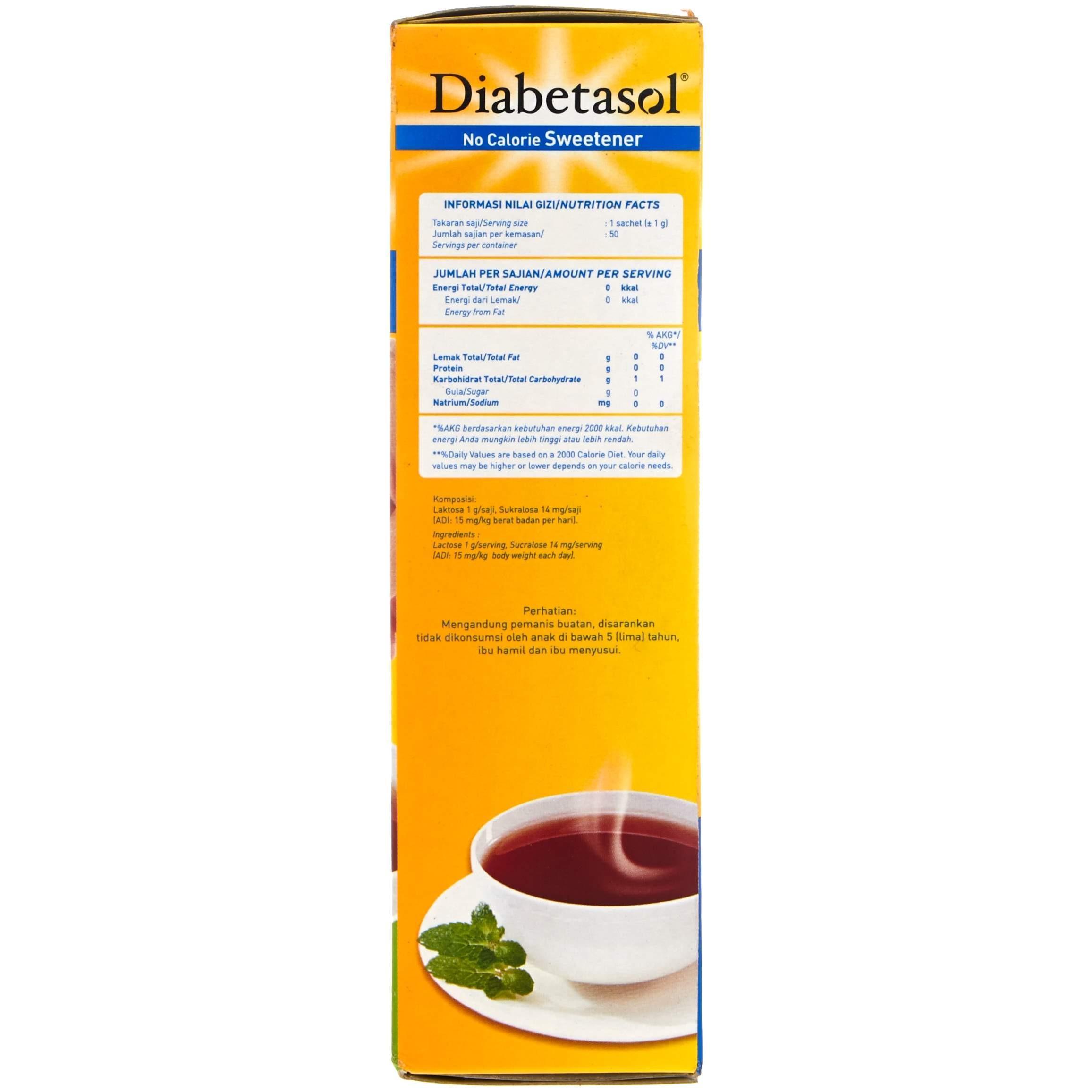 Cek Harga Baru Diabetasol No Calorie Sweetener 50g Terkini Situs Gula 2
