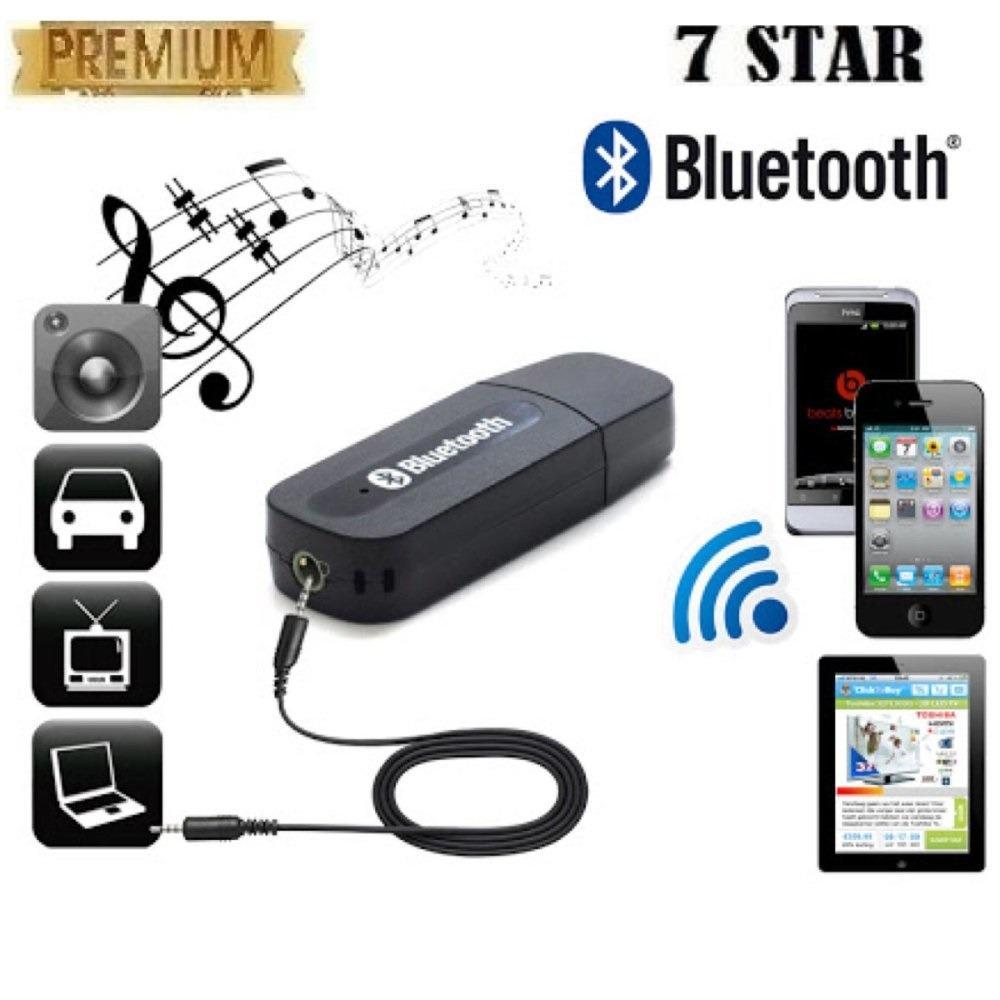 Bluetooth Receiver 7STAR Adapter MusicTeknologi Menghubungkan HP Ke Speaker - HITAM
