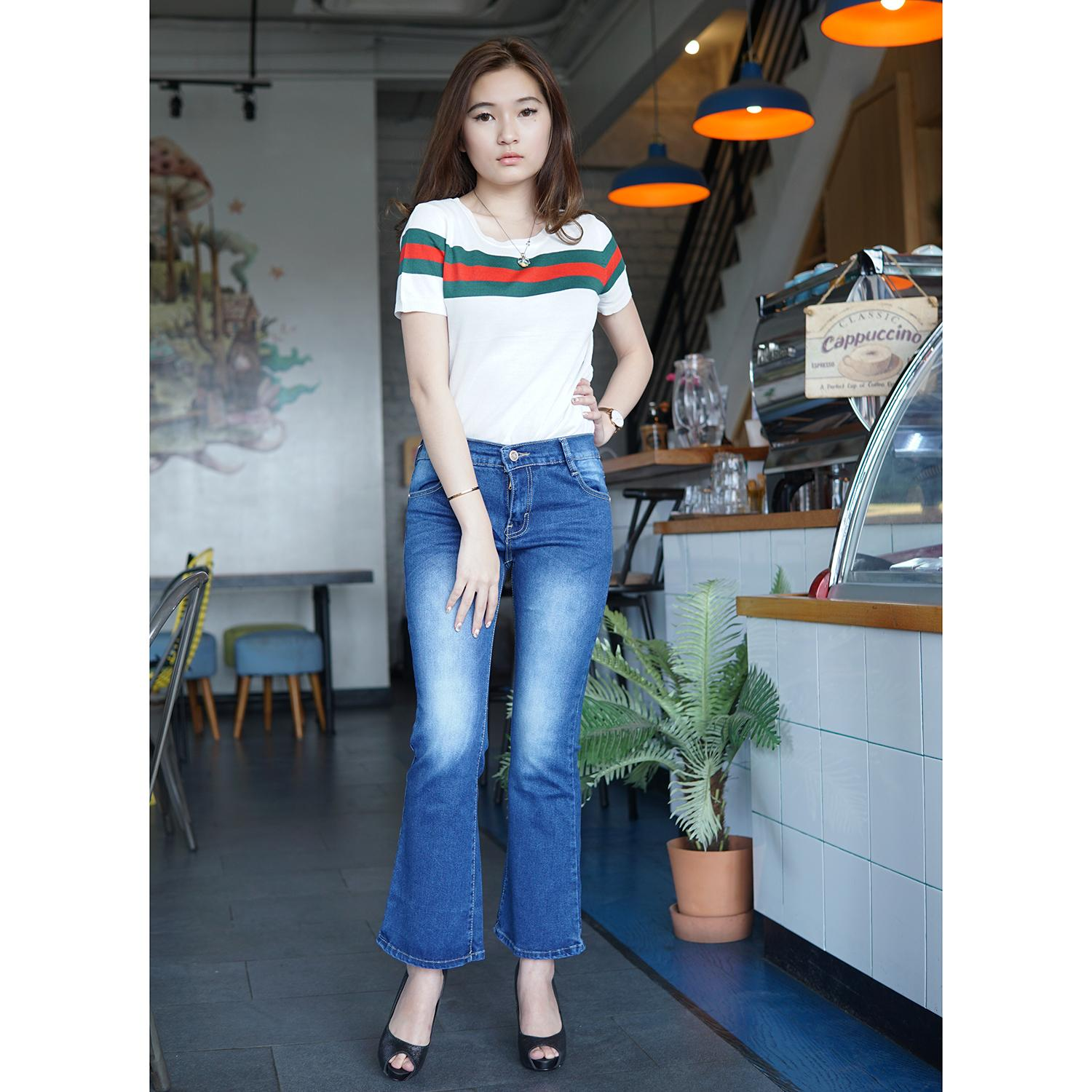 Rumah Jeans Celana Jeans Cutbray Wanita Cutbray Jeans 6187 Soft Jeans Stretch