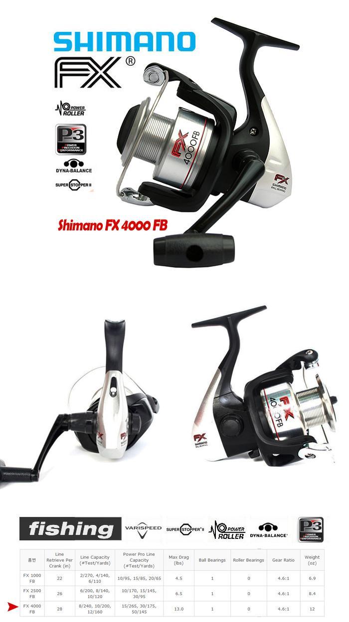 Reel SHIMANO FX 4000FB