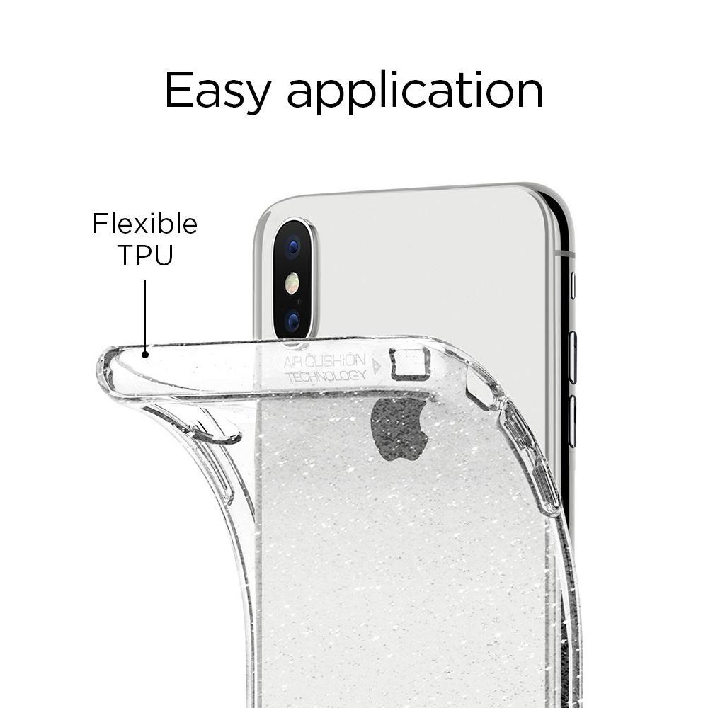 Spigen iPhone X Case Liquid Crystal Glitter Case - 3