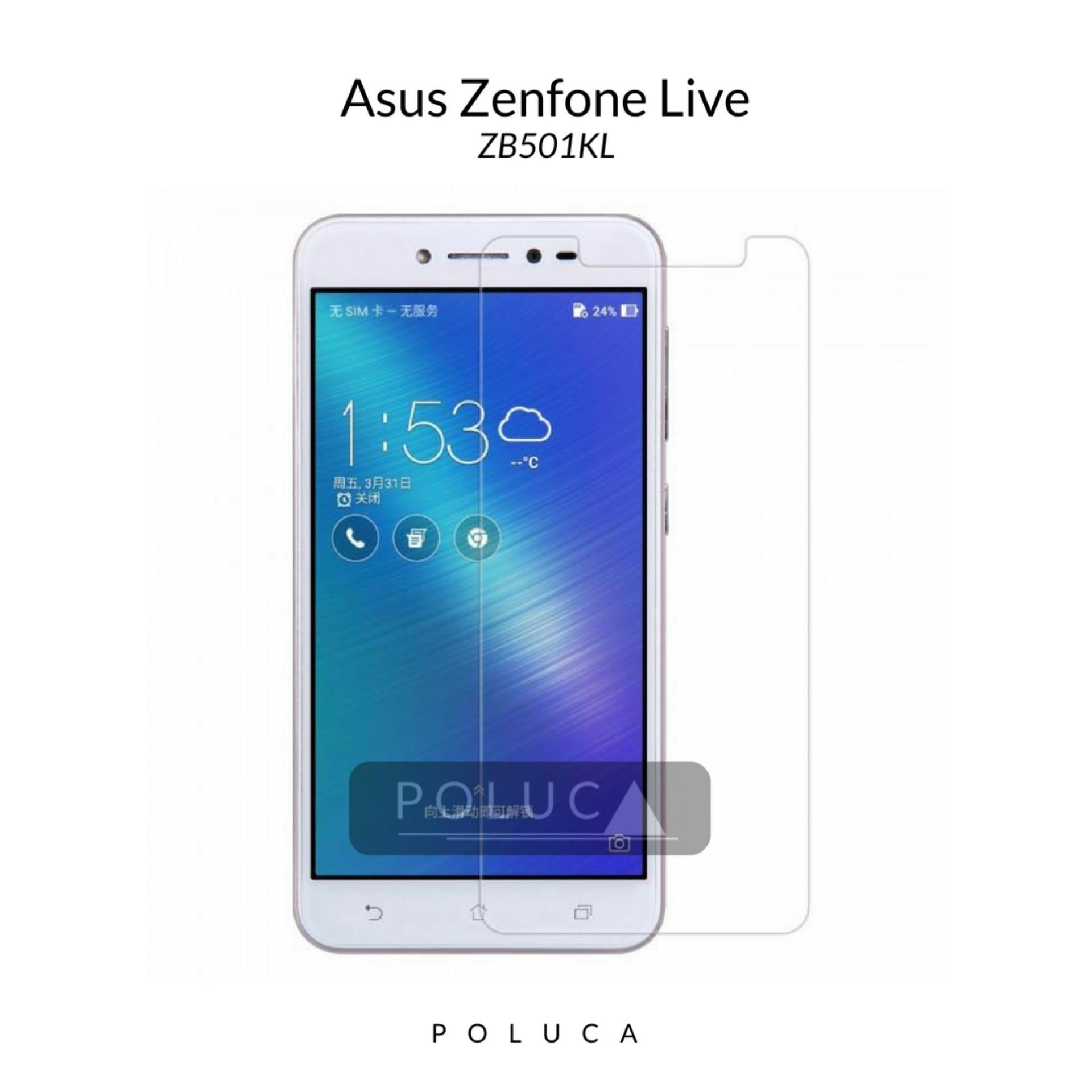 Poluca Tempered Glass Screen Protector Anti Gores Kaca Asus Zenfone Live ( ZB501KL ) - Clear