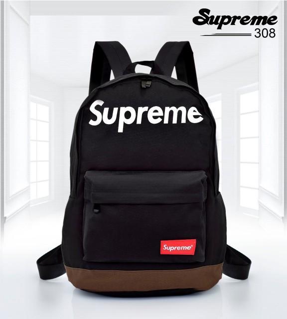 Detail Gambar Supreme Kanvas Backpack 308# TAS IMPORT BRANDED BERKUALITAS IMPORT BAG Terkini