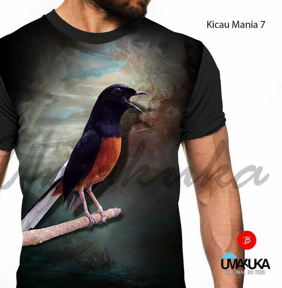 harga Kicau mania 7 kaos burung murai batu medan 3d fullprint Lazada.co.id