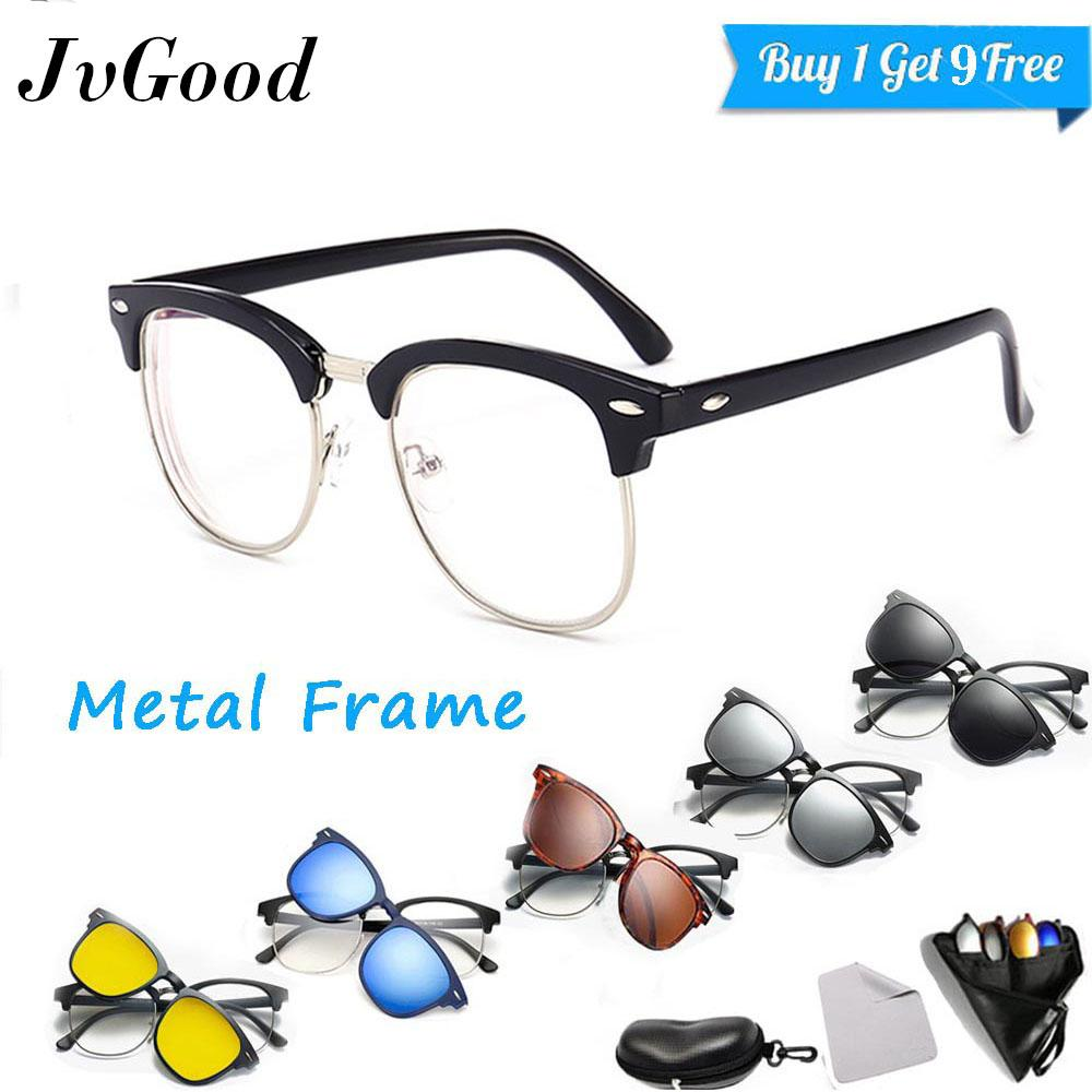 Harga Jvgood Frame Kacamata Pria Photocromic Clip On Clubmaster Anti Radiasi Komputer Gratis 5 Lensa Warna Sunglass Polaroid Night View Jvgood