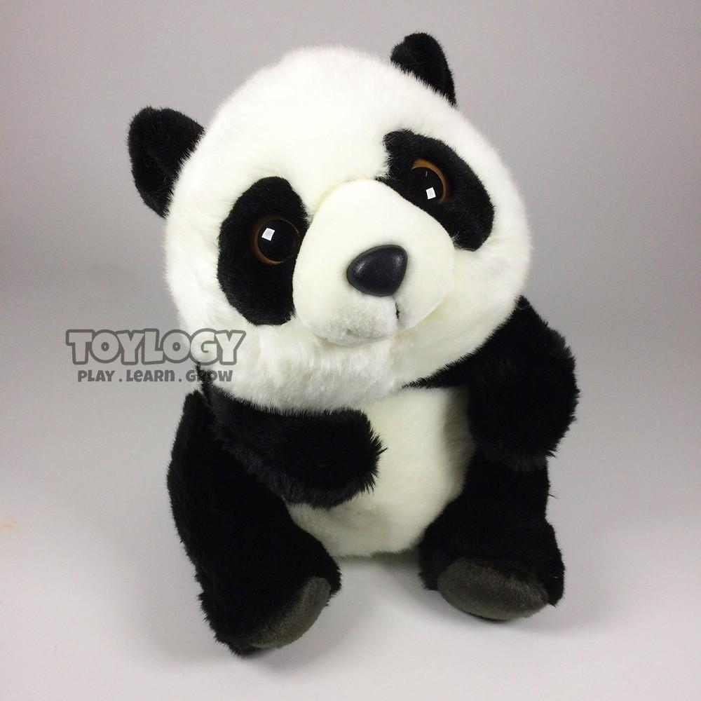 AleToy Boneka Panda ( Panda Stuffed Plush Animal Doll ) 14 inch - White and Black
