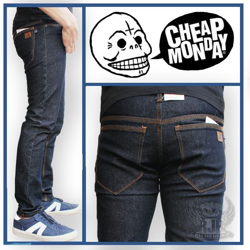 Jual Termurah Celana Jeans Pria Skinny Cheap Monday Blueblack Denim Pria Celana Jeans Pria Jeans Panjang Celana Jeans Cowok Skinny Slim Fit Baru