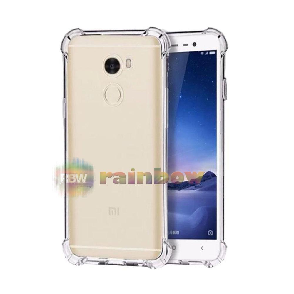 Rainbow Case Anti Crack Huawei Y7 Prime / Silikon Case Huawei Y7 Prime / Anticrack / Antishock / Shocproof Case / Case Unik / Jelly Case / Casing Huawei Y7 Prime - Clear