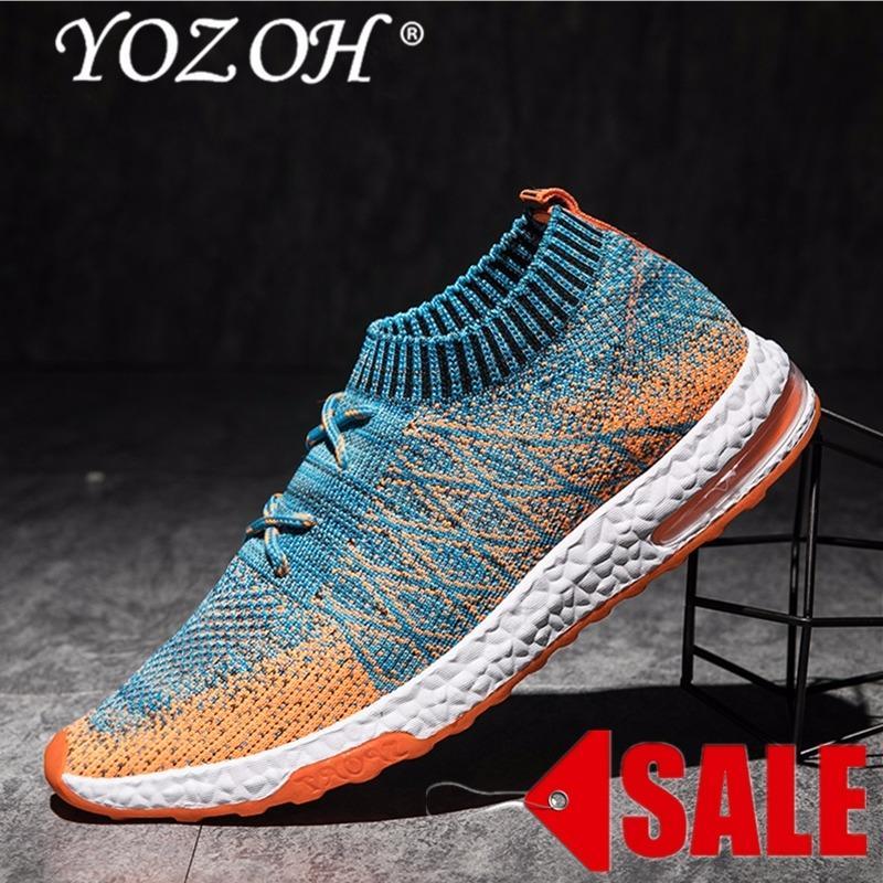 Toko Yozoh Menjalankan Sepatu For Pria Mesh Bernapas Olahraga Sepatu Pria Tinggi Meningkatkan Sneakers Pria English Di Tiongkok