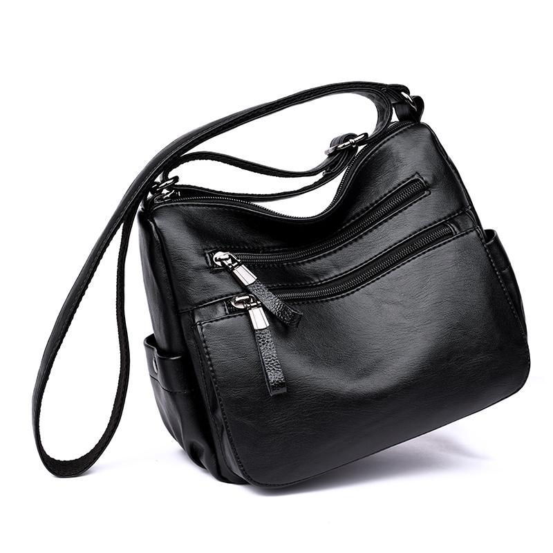 Detail Gambar Model baru Tas 2018 Gaya Korea Ibu tas wanita Tren netral  Kulit lembut tas mulut tas bahu dengan satu tali Santai all-match setangah baya  Tas ... abcec514c2