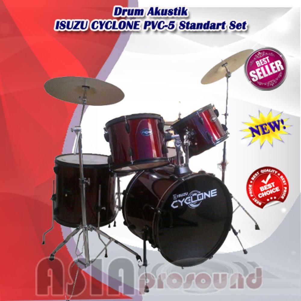 Drum Akustik ISUZU CYCLONE PVC-5 - PVC5 - PVC 5 Standart Set