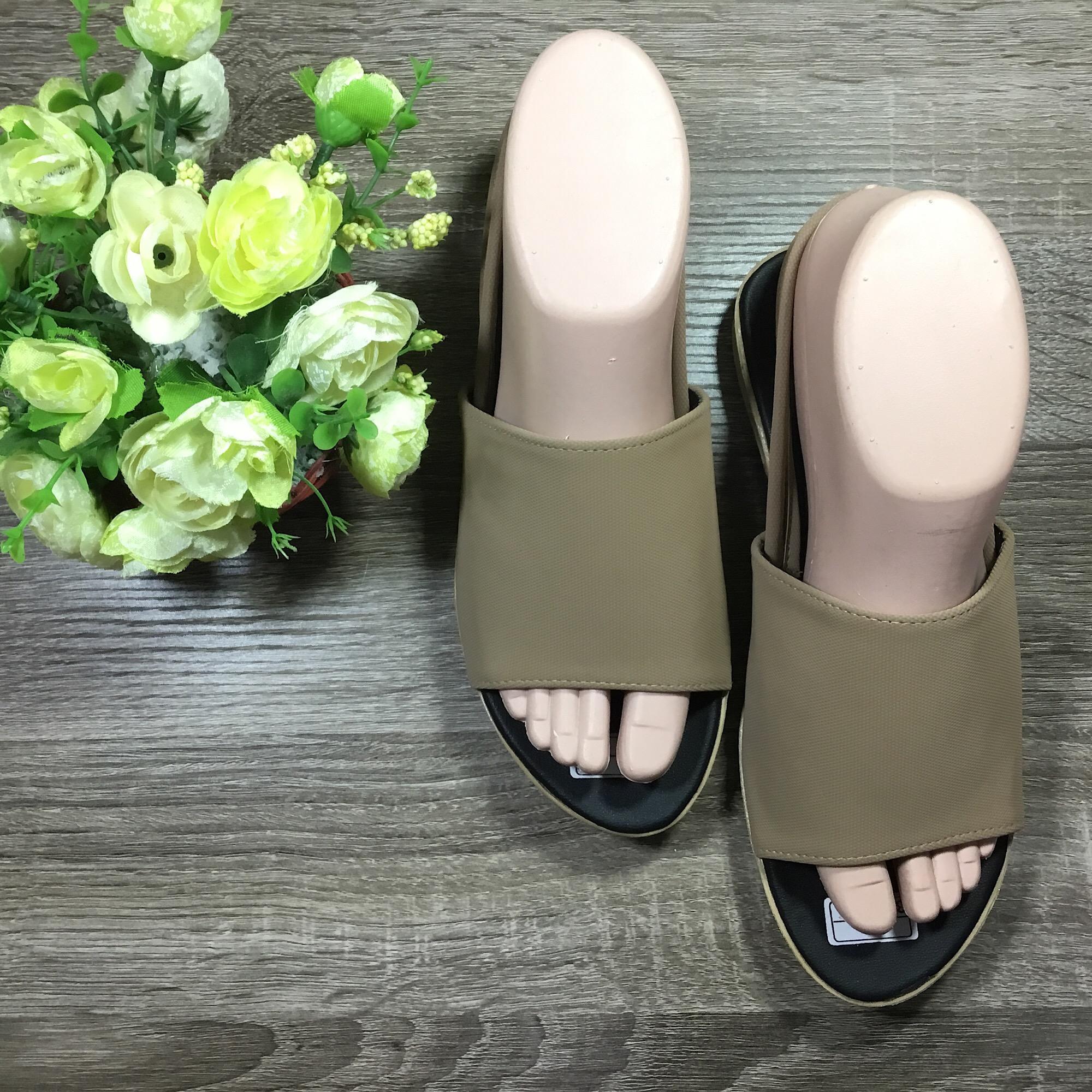 Rafishashoes-Flat Sandal Mule Fashionable-[Mocca]