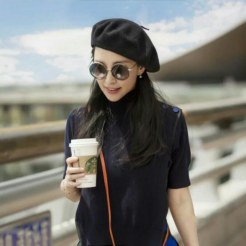 Topi baret klasik import -topi baret wanita topi baret pelukis