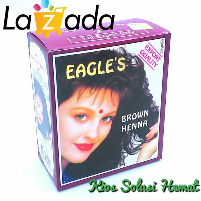 Fitur Eagles Brown Henna Hair Dye 1 Box Isi 6 Pcs Cat Rambut Hena