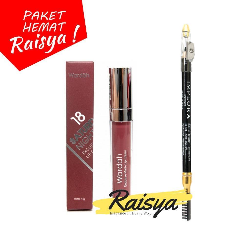 Wardah Exclusive Matte Lip Cream 18 Dan Implora Pensil Alis BPOM