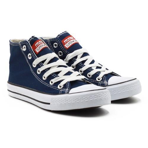 faster sepatu sneakers kanvas pria 1603-02 – navy/putih size 40-45
