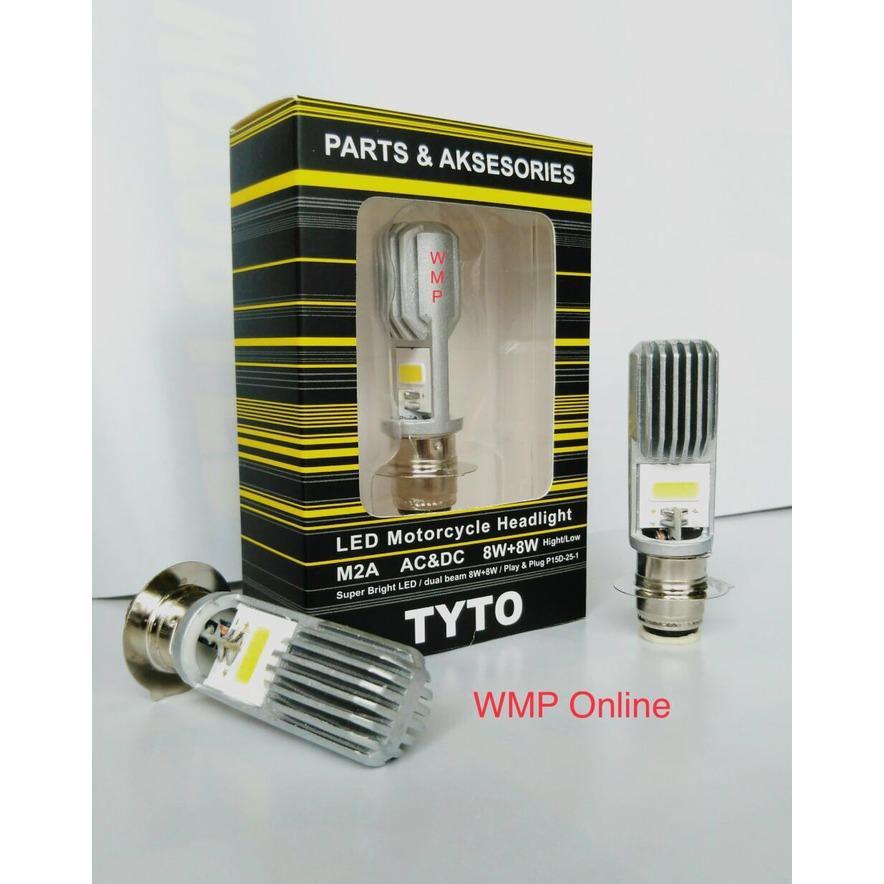 Lampu Depan TYTO M2A H6 2 Sisi Putih ACDC WMP-0326