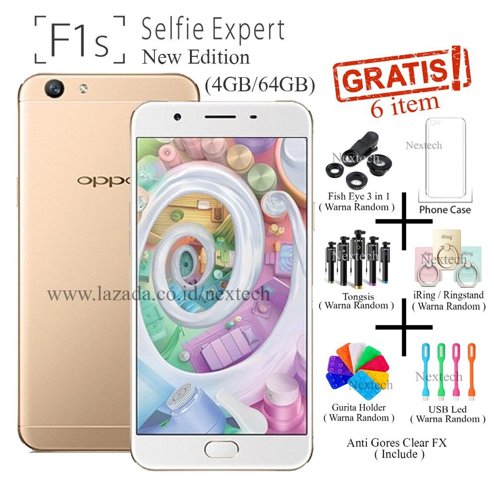 Oppo F1s New Edition - Selfie Expert - Ram 4GB - 64GB - Gold