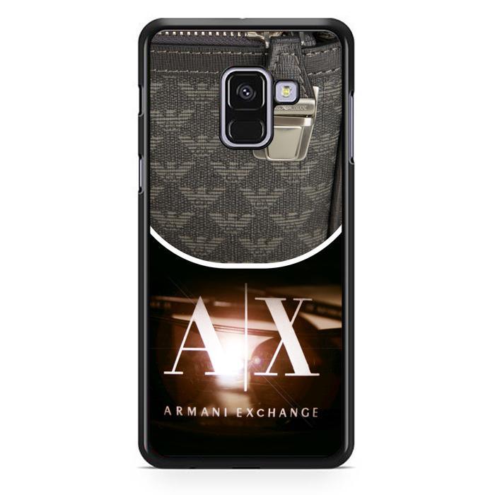 Casing Hardcase Samsung Galaxy A8 2018 Motif Armani Exchange Logo X3308