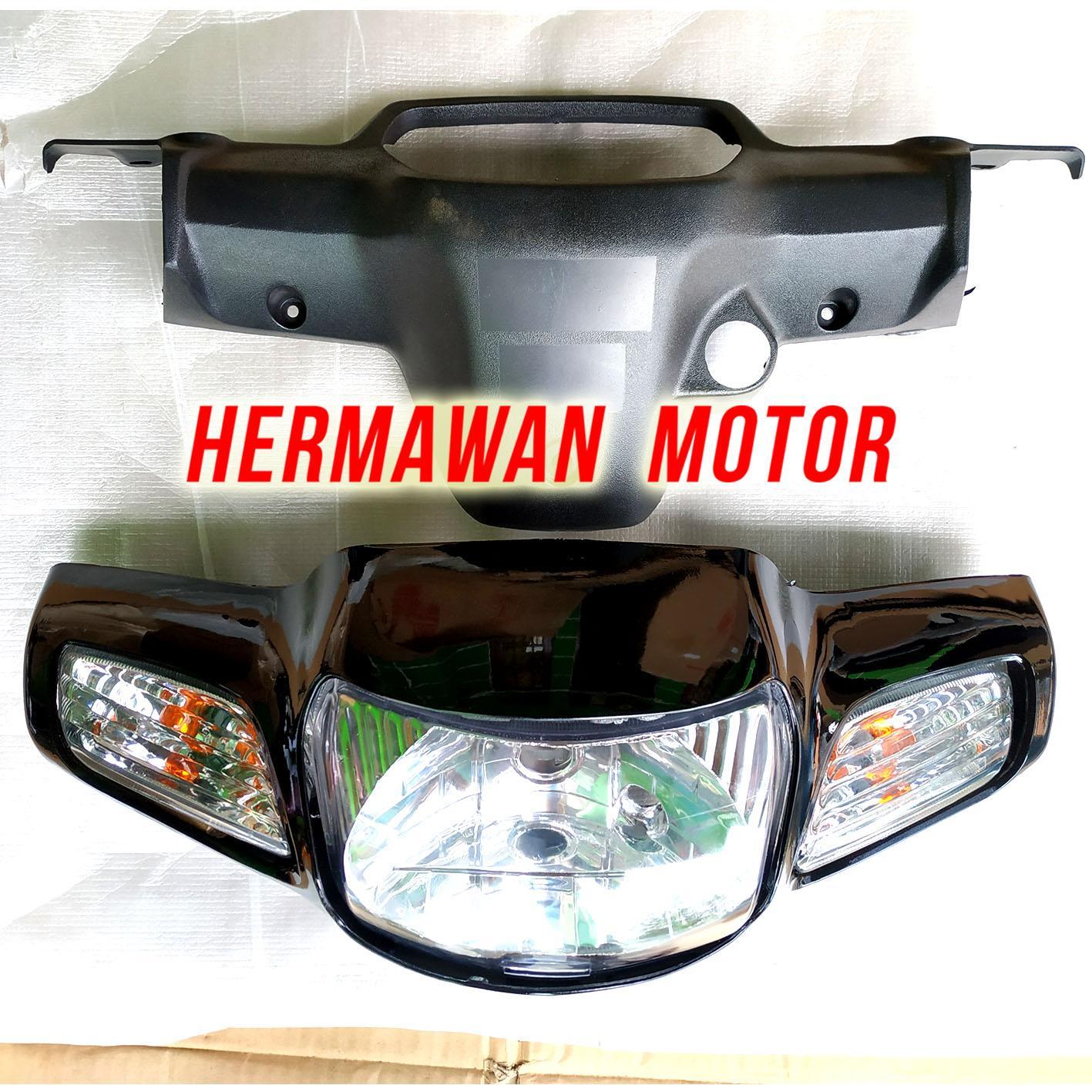 Batok depan belakang Honda legenda 2 lampu depan dan sen warna hitam