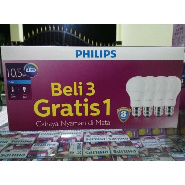 Terlaris Dan Termurah Paket Lampu LED Philips 10.5 Watt 10Watt Promo PUTIH