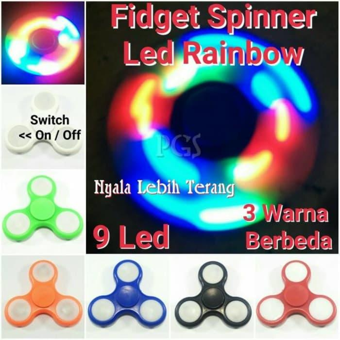 mainan tri -spinner edc ceramic ball focus games – merah +.