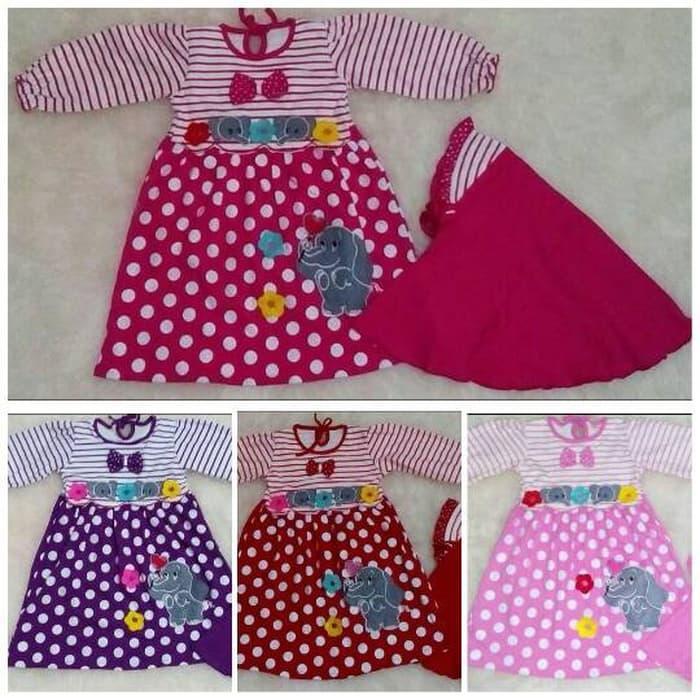 Baju muslim anak / gamis anak / muslim anak bayi elephant - baju gamis anak perempuan