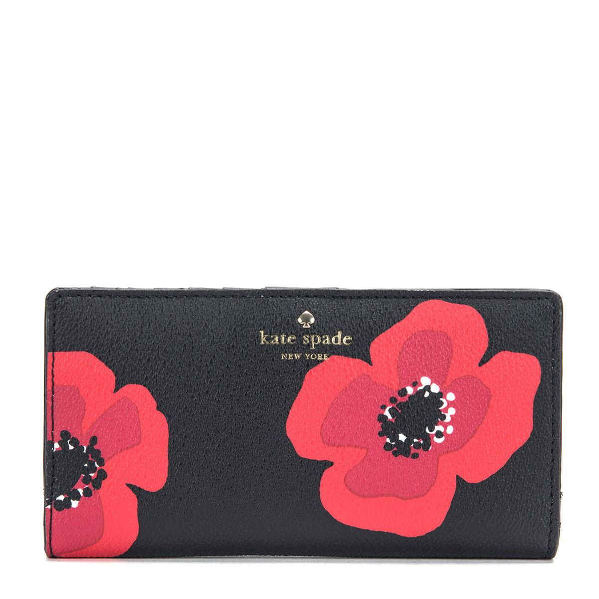 Kate Spade Hyde Lane Poppy Stacy Wallet  Black