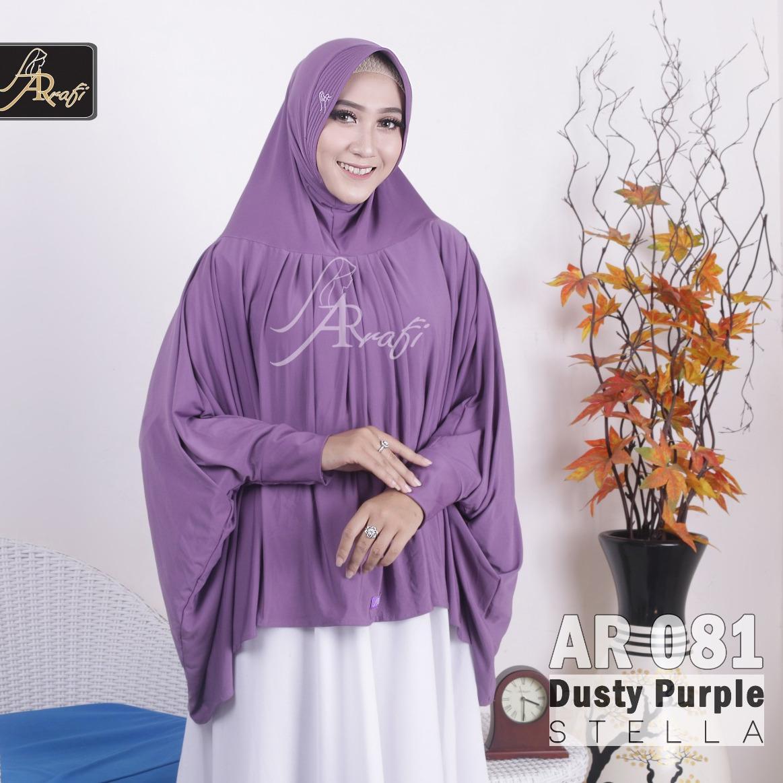jilbab instan Helwa Arrafi (warna Dusty Purple) AR081 hijab kerudung bergo syari cadar busana muslim gamis daily
