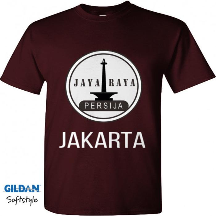 Kaos Tshirt Baju Combed 30S Distro PErsija Jakarta Jaya Raya Jakmania