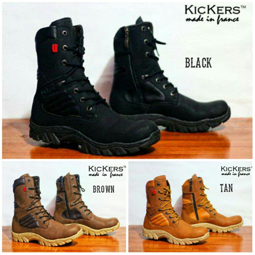 Sepatu Kickers Boots Safety Delta Tinggi  Sepatu Touring Motor Sepatu Kerja Keren Pria