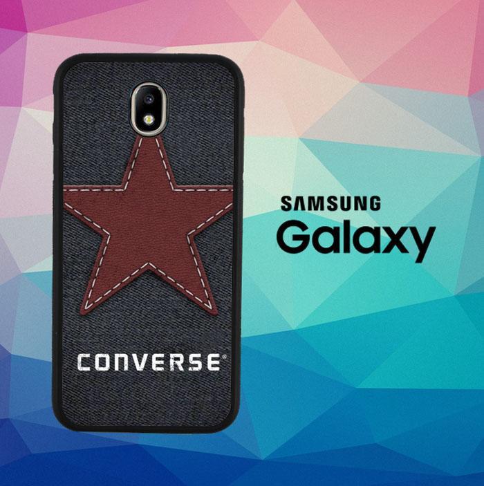 CONVERSE DENIM TEXTURE J0302 Casing Custom Hardcase Samsung Galaxy J7 PRO 2017 Case Cover