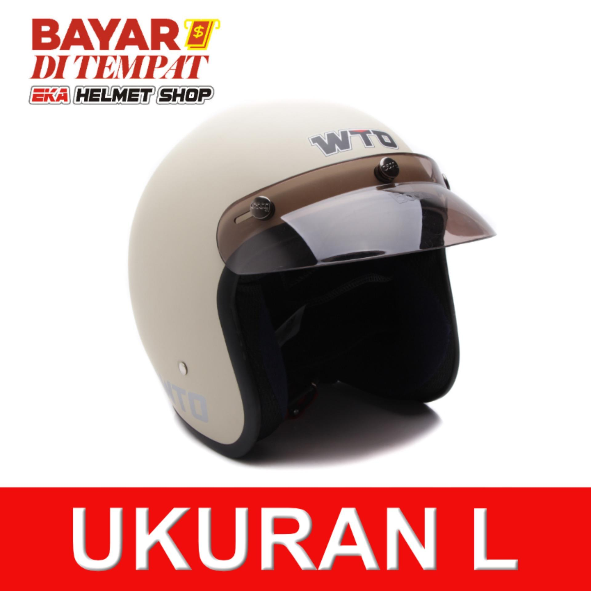 Spesifikasi Wto Helmet Retro Bogo Pet Cls1 Krem Doff Lengkap Dengan Harga