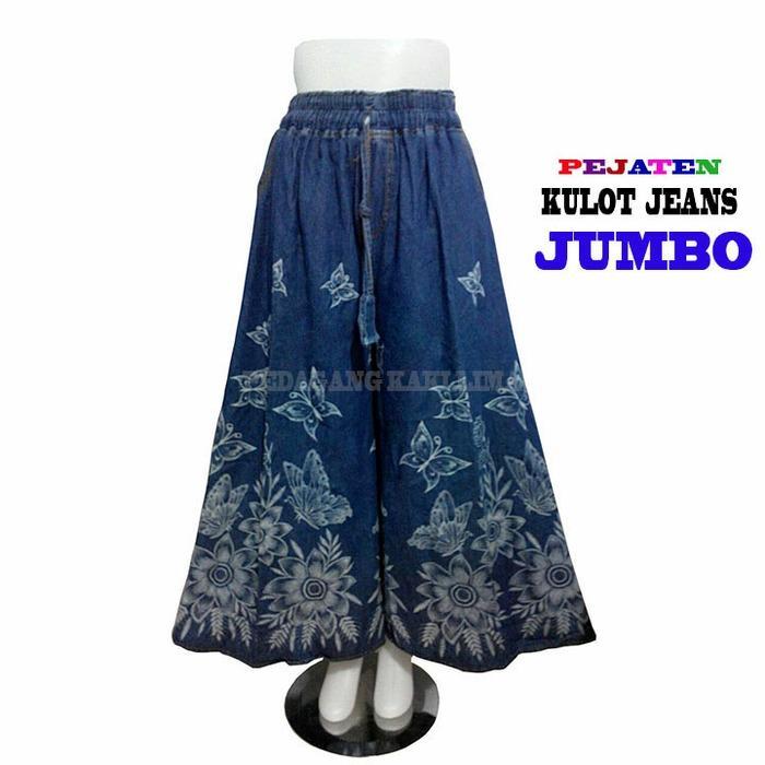 Celana Kulot Jeans Jumbo Panjang/Celana Wanita