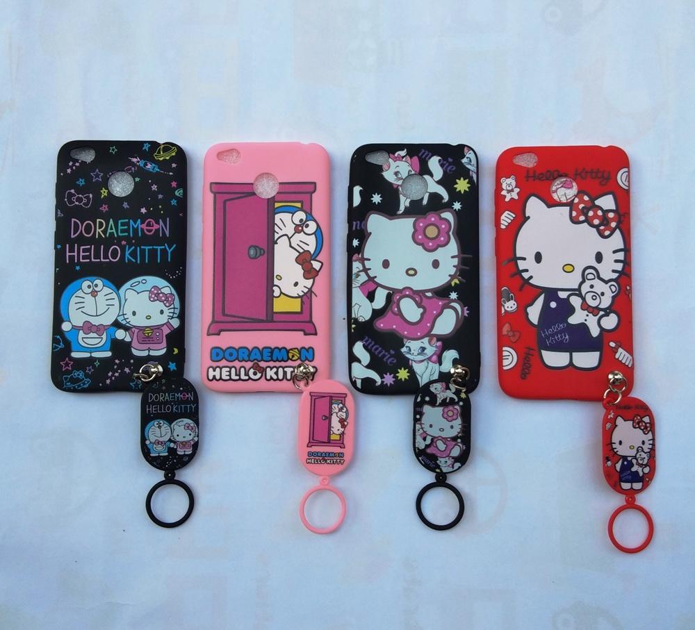 Redmi 4X Softcase Gambar Hello Kitty Free Gantungan Lucu