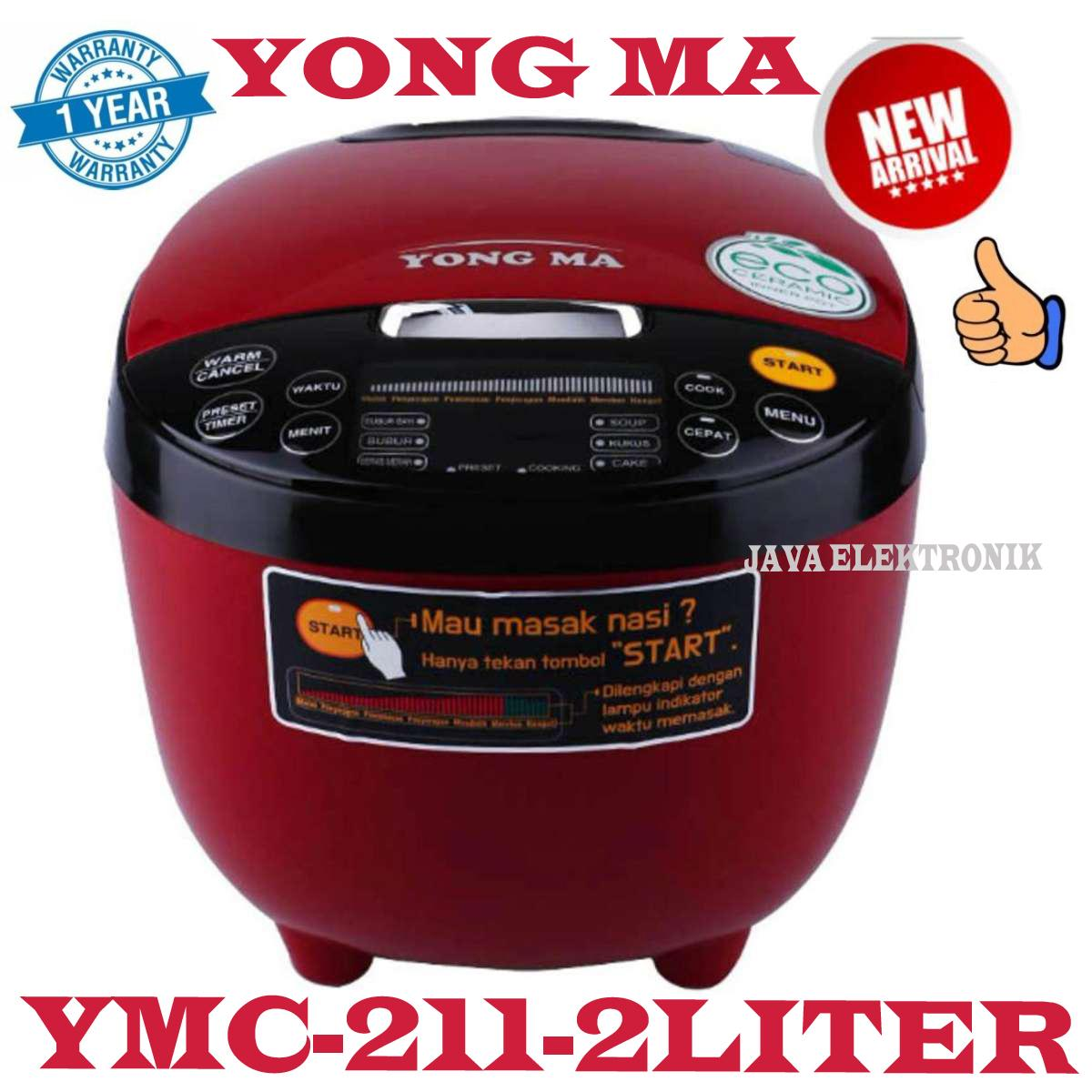 Kelebihan Yong Ma Digital Rice Cooker 2 L Ymc211 Merah Terkini Magic Com Mc5600r Multi Liter Garansi Resmi
