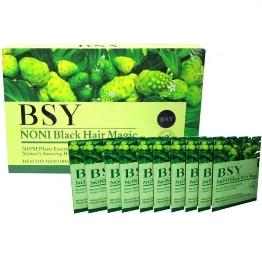 Shampoo Noni Black Hair Magic BSY BPOM - Per Box isi 20 Sachet Penghitam Rambut USA