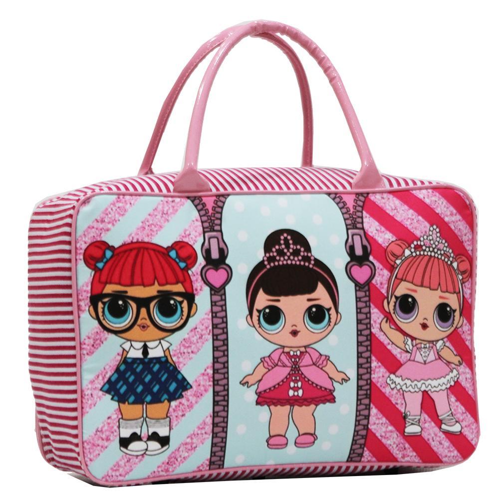 Onlan LOL Surprise Travel Bag Anak Karakter Anak Perempuan Cantik Bahan Kanvas Halus .