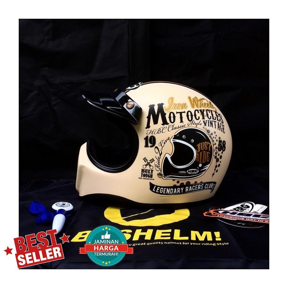 Fitur Helm Custom Moto 3 Hitam Doff Cc Cakil Dan Harga Terbaru Hbc Rust Dust Emas Just Ride Krem