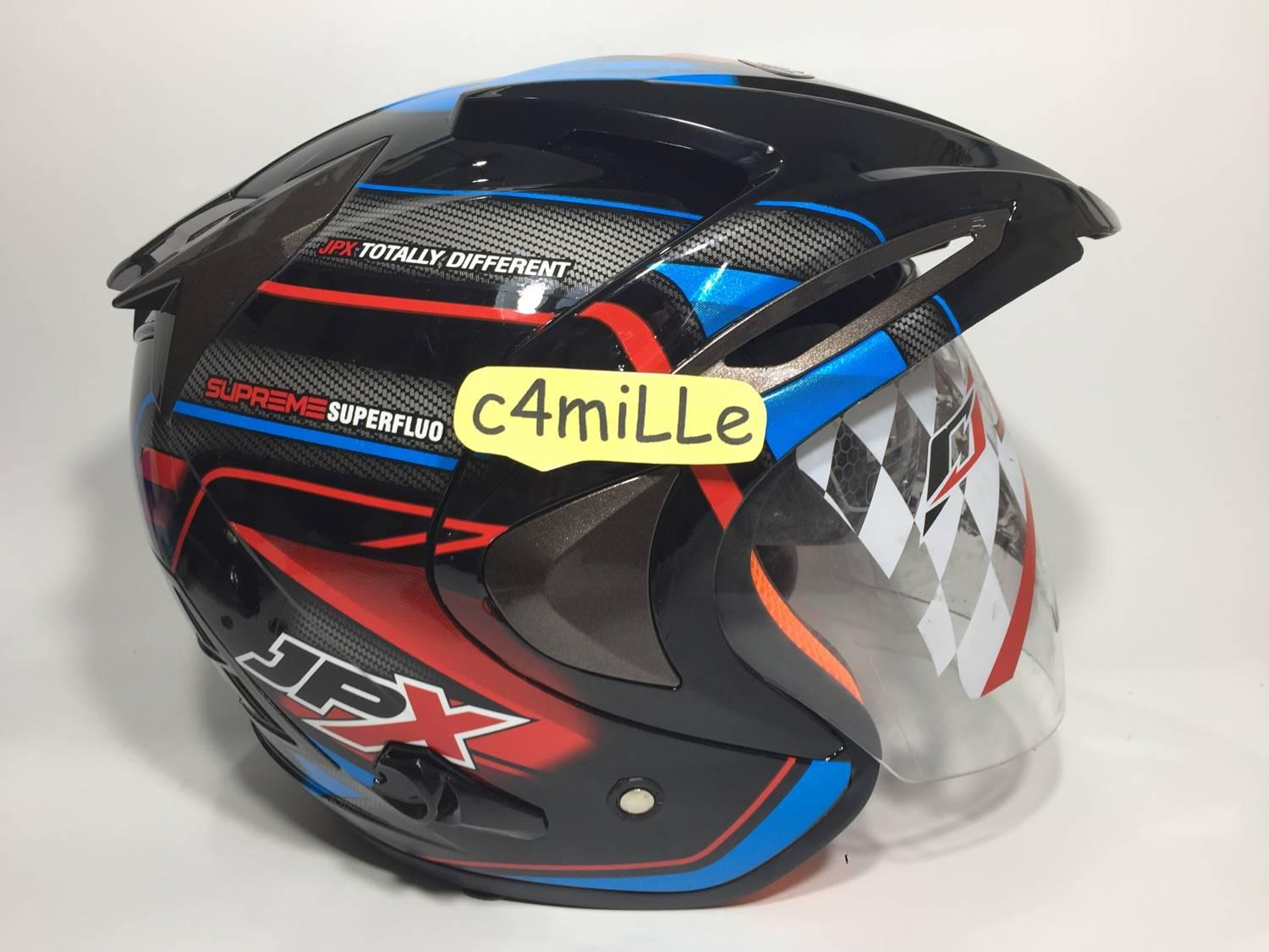 Dof Double Visor Source · HELM JPX SUPREME MOTIF CARBON SUPER BLACK DOUBLE .