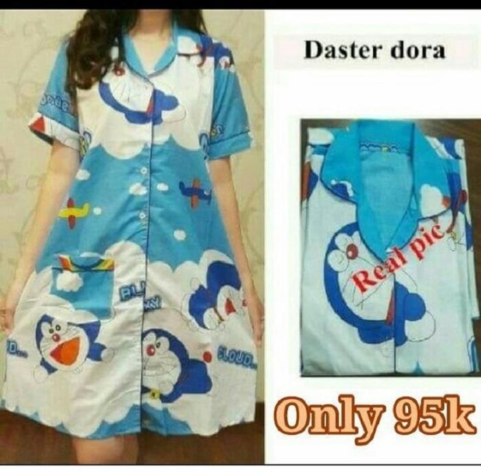 Daster Doraemon Blue [Baju Tidur 0133] QKV