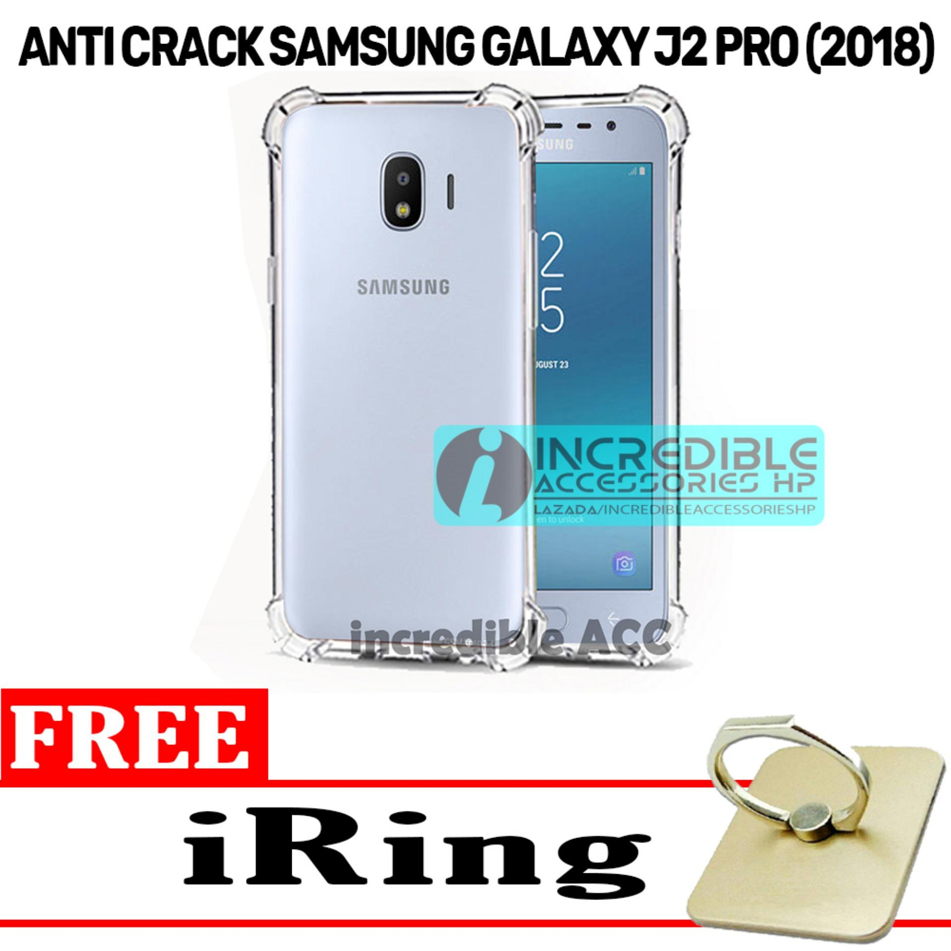 Samsung Galaxy J2 Pro (2018) Anti Crack Softcase Elegant Transparant Jelly Case - White