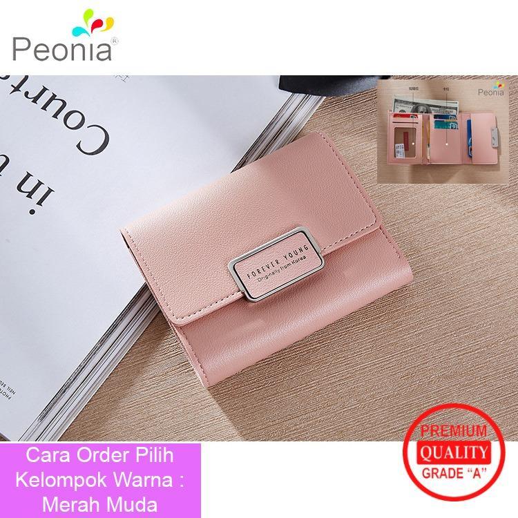 Peonia Korea Fashion Style Dompet Clutch Pendek Wanita Premium Quality Grade A for Aster Young Short Series