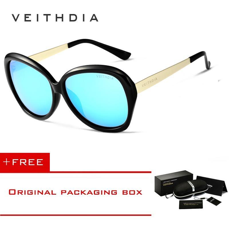 Jual Veithdia Tr90 Wanita Mengemudi Kacamata Mewah Ladies Designer Sunglasses Eyewear 8012 Online