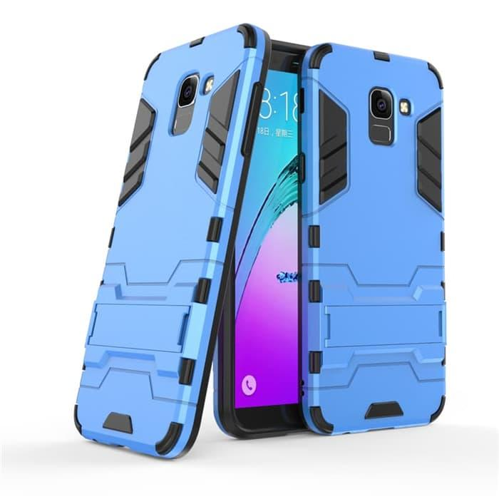 Case Samsung Galaxy J6 2018 Ironman Armor Shield Kickstand FREE TEMPERED GLASS -